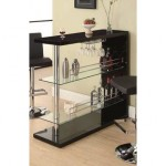 Add Beauty To Your Home With A Coaster Home Bar Table with Two Glass Shelves