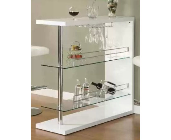 Add Beauty To Your Home With A Coaster Home Bar Table With Two Glass