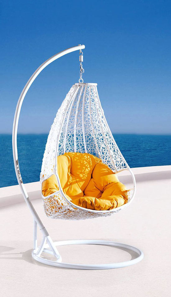 Comfortable Egg-shaped Rattan Outdoor Euro Swing Chair