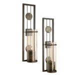 Contemporary Metal Candle Sconce Set From Danya B Is Sleek And Elegant