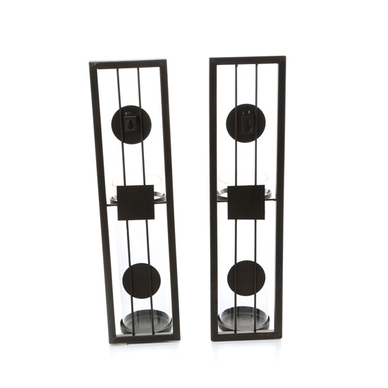 Contemporary Metal Candle Sconce Set From Danya B