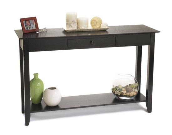 convenience concepts american heritage console table with. Black Bedroom Furniture Sets. Home Design Ideas