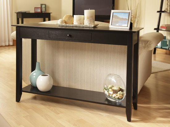 Convenience Concepts American Heritage Console Table with Drawer and Shelf