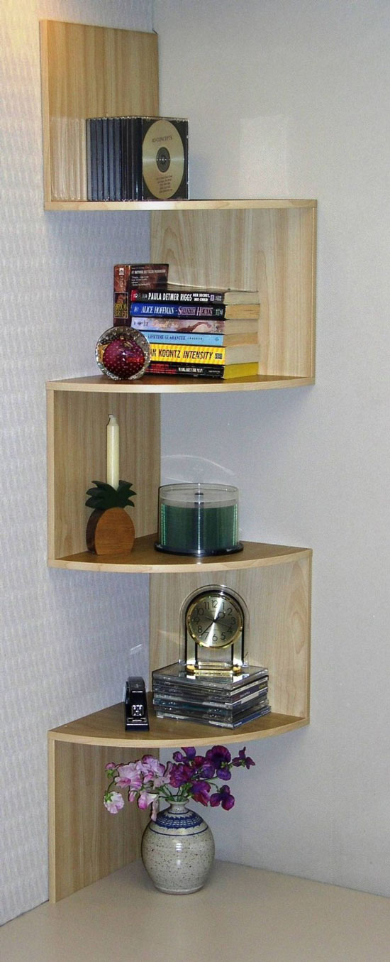 Corner Spacesaver Bookcase
