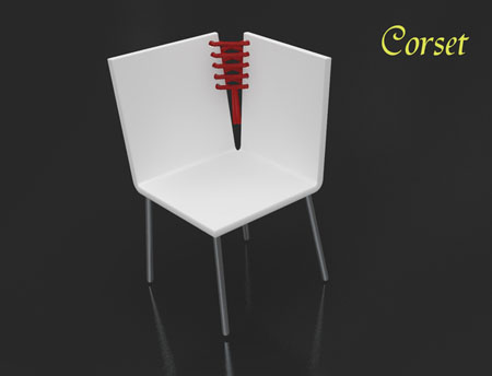 Corset Chair and Side Table