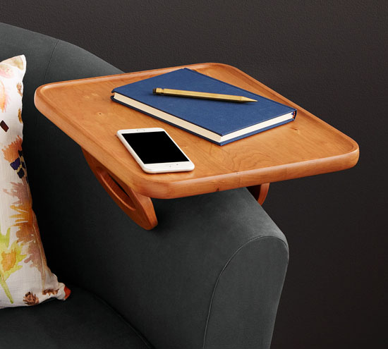 Couch Arm Table by Doug and Tuya Haley