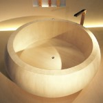 Cypress Furo Wooden Bathtub and Sink for Better Environment