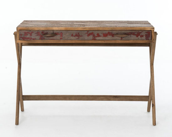 Danny Pencil Desk in Bleached Pine & Aged Oak