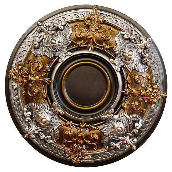 Dark Platinum Hand Painted Ceiling Medallion
