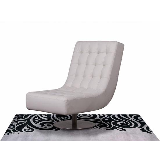 Diamond Sofa Jazz Swivel Armless Tufted Chair