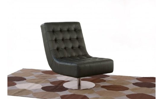 Diamond Sofa Jazz Swivel Armless Tufted Chair