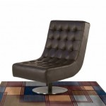 Sit In A Classy Mode With Your Diamond Sofa Jazz Swivel Armless Tufted Chair
