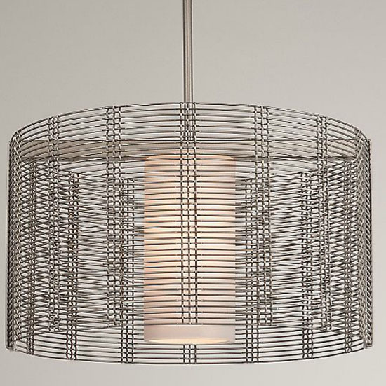 Downtown Mesh Drum Chandelier by Hammerton Studio