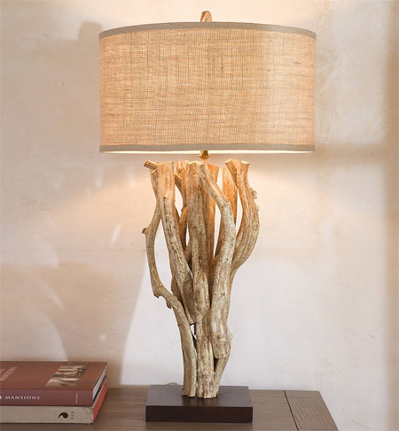 Driftwood Table Lamp From Pottery Barn Modern Home Decor