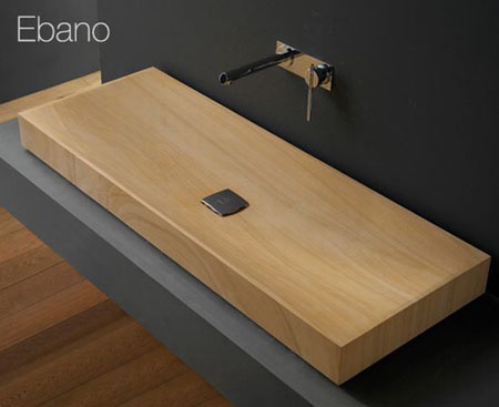 Beau Ebano Wooden Washbasin. Ebano Wooden Sink