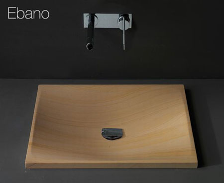 ebano wooden sink