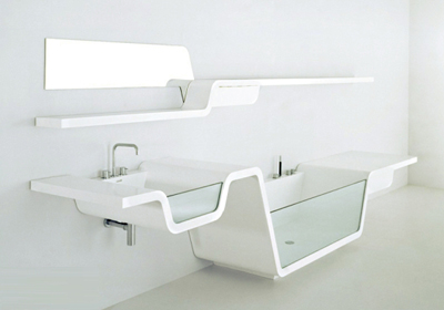 Ebb Bathroom Shower and Sink Combo | Modern Home Decor