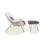 Style Meets Comfort At Eero Saarinen Womb Chair And Ottoman