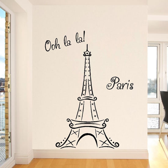 Eiffel Tower Ooh La La Wall Decal   Dorm Room Decorating Ideas For Girls Part 87