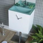 Bathroom Vanity with A Clock from Ellebi