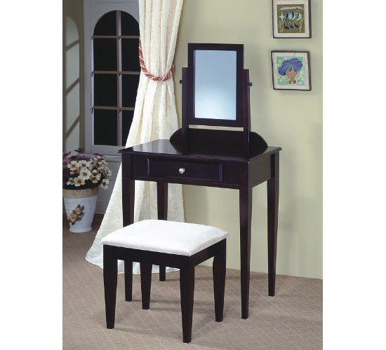 Espresso Finish Wood 3 Pc Vanity Set