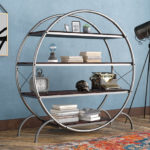 Evon Industrial Etagere Bookcase Adds Stylish Industrial Touch to Your Interior Design