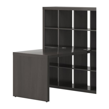 expedit a bookshelf and desk in one modern home decor. Black Bedroom Furniture Sets. Home Design Ideas