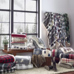 Fairisle Indiana Fleece Throw Blanket – Soft Reversible Blanket with Unique Pattern