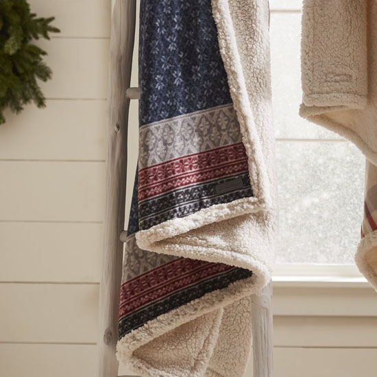 Fairisle Indiana Fleece Throw Blanket