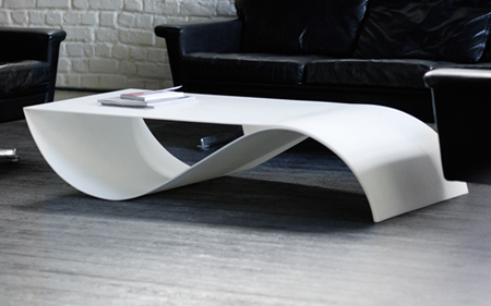 Sleek fish coffee table with storage space for your - Tables basse de salon ...
