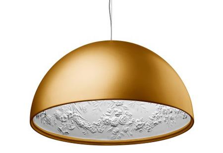flos skygarden gold pendant lamp