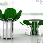 Fashionable Flower Dining Table Concept