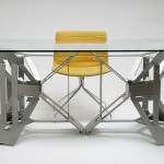 3Fold Table with Strong Steel Frame