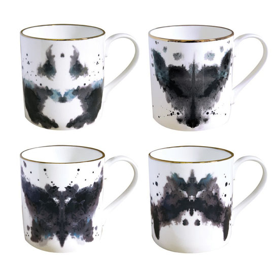 Fox Ink Blot Mug