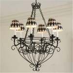 French Wire Basket Chandelier Is An Elegant Lighting Solution For Your Modern Home