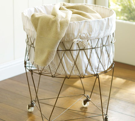 Accessories: French Wire Basket as Hanging Candle Holder : Remodelista