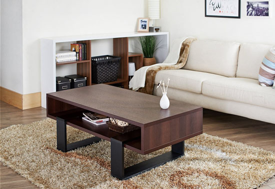 Furniture of America Monroe Rectangular Coffee Table