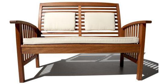 Gibranta All Weather Hardwood 2 Seater Bench