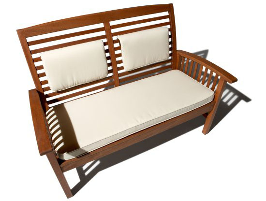 Gibranta all-weather hardwood 2-seater bench