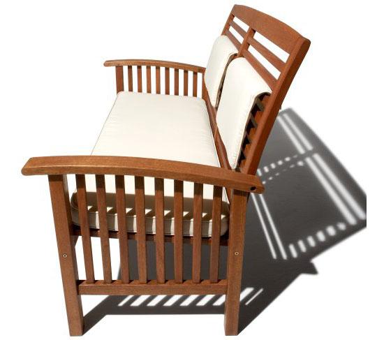 Gibranta all-weather hardwood 2-seater bench