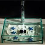 Clear Glass Washbasin from Cazana Design