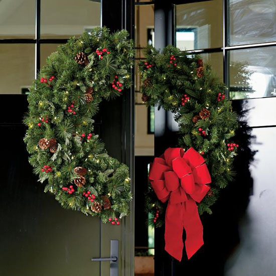 Grandin Road Double Door Wreath