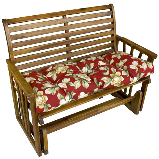 Greendale Home Fashion 46-Inch Outdoor Swing And Bench Cushion