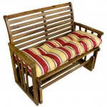 Stay Outdoor Comfortably Sitting On A Bench With The Greendale Home Fashion 46-Inch Outdoor Swing And Bench Cushion