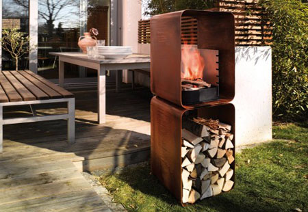 Gryll L Outdoor Fireplace