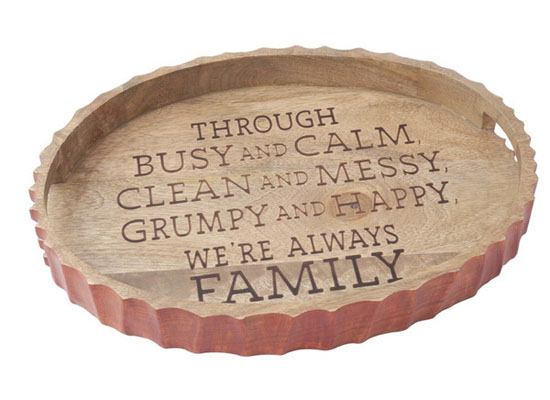 Hallmark Family Etched Wood Tray
