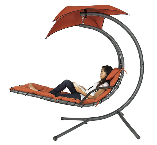 Cool Air Porch Swing Hammock with Arc Stand