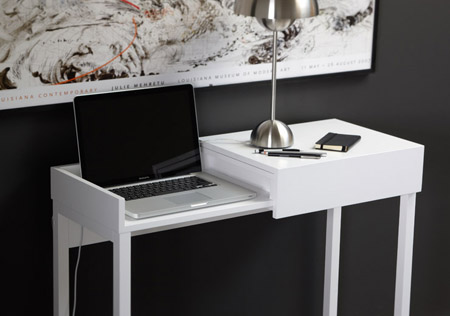 hide your laptop safely with the hidden laptop desk | modern home