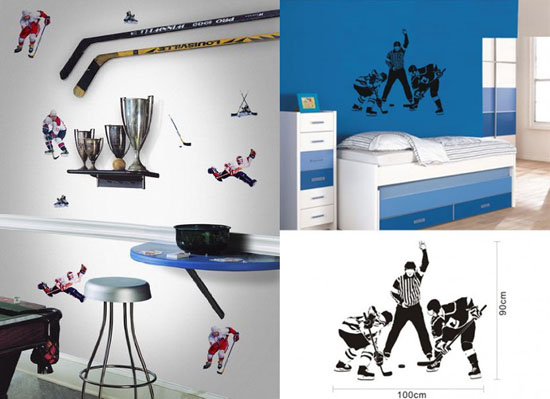 Boys Hockey Bedroom Ideas http://www.homedosh.com/decorating-ideas-hockey-themed-bedroom-design/