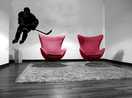 Hockey Wall Decal - Hockey Themed Bedroom Design